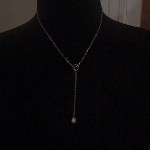 Tiffany & CO Pearl Necklace  Elsa Peretti Sterling